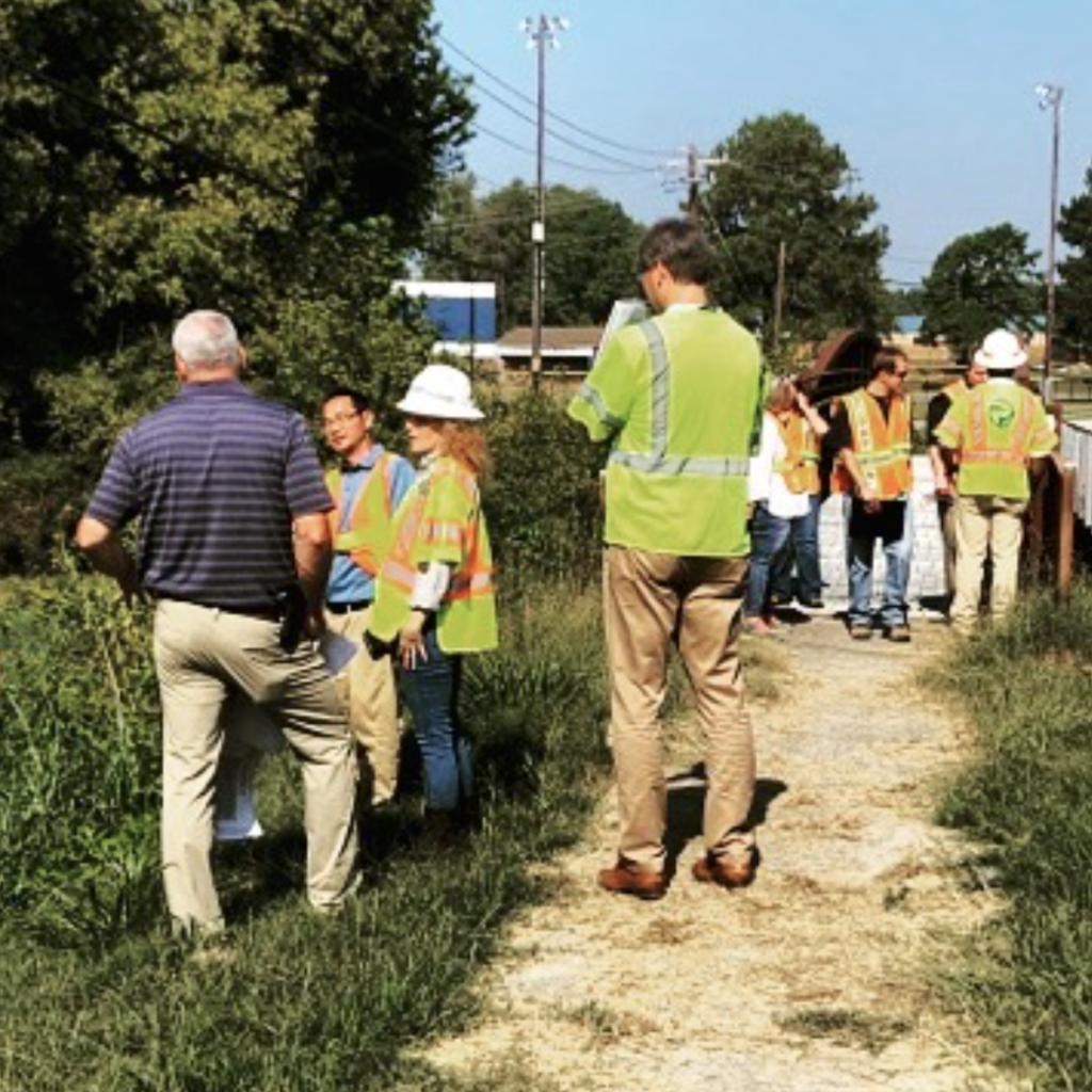OCTOBER 2019: SC Department of Transportation engineers conduct site visit to discuss sidewalk projects on Roddey Drive.