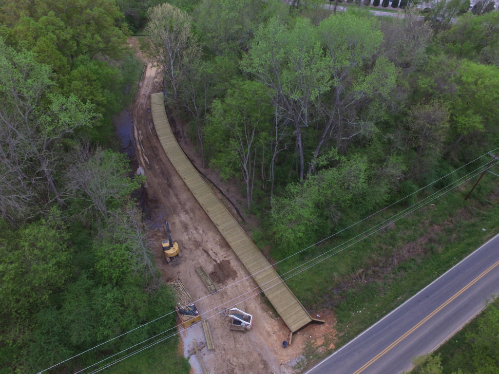 MARCH 2020: Boardwalk sections under construction near Clinton Avenue and Woodland Drive